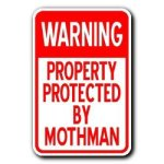 tin sign mothman